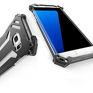 eastcoo Samsung S7 Edge Étui en aluminium ultra résistante antichocs Galaxy  S7 en métal bord Étui 06e9862bd38d