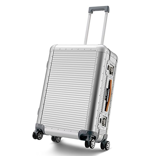 Travel Luggage Aluminum Strong Suitcase Fashion Durable Hardshell Carry on TSA 3 Locks Rolling wheel