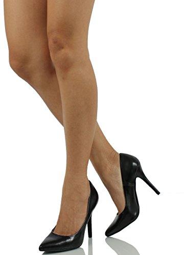 Naisten Musta Herkullinen Pumput Pu Muoti H kengät Päivämäärään daaqYp