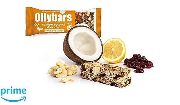 Barra de la proteína sin gluten de Ollybars Vegan - Chip De Choc ...