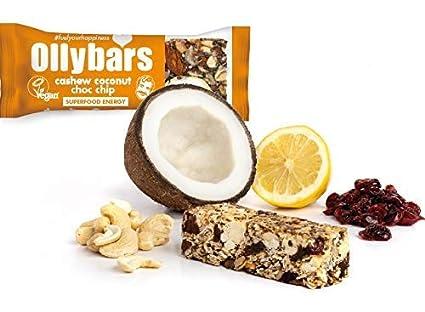 Barra de la proteína sin gluten de Ollybars Vegan - Chip De ...