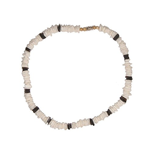 Tiger Smile 20 Real White Chips Puka Shell Necklace