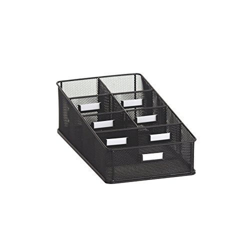 (Safco Products 3291BL Onyx Mesh Condiment Carton Organizer, Black)