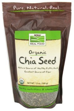 NOW Foods Real Food Organic Chia Seed 12 oz