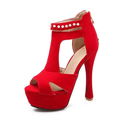 Eu Slc01336 Pour Sandales 40 Femme Adeesu Rouge 0axYXwqz0