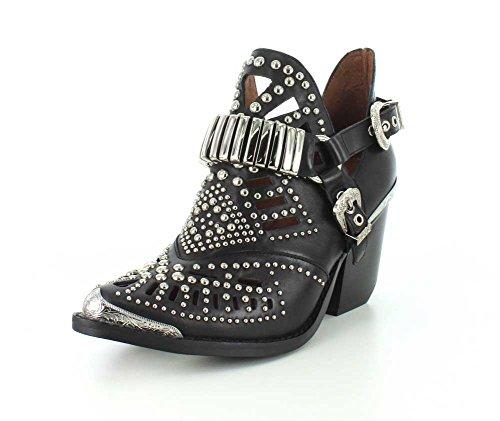 - Jeffrey Campbell Womens Calhoun-4 Black/Silver Boot - 10