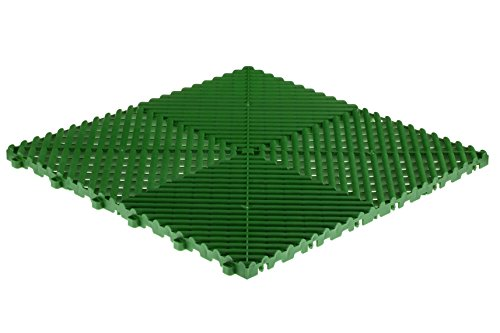 Swisstrax (A504.000.700-9 Ribtrax Modular Flooring Tile, Turf Green - (Pack of ()