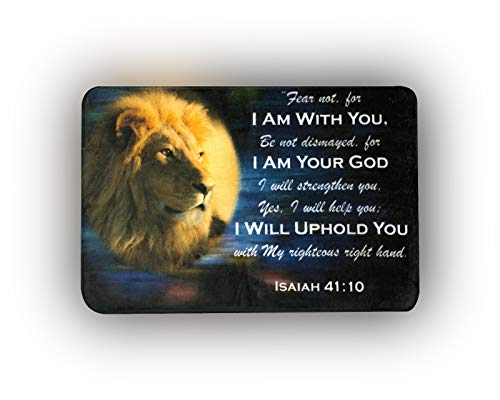 - EasyPray Memory Foam Soft Prayer MAT Isaiah 40:11 - Fear Not for I AM with You - Lion of Judah Bible Verse Christian Prayer Rug