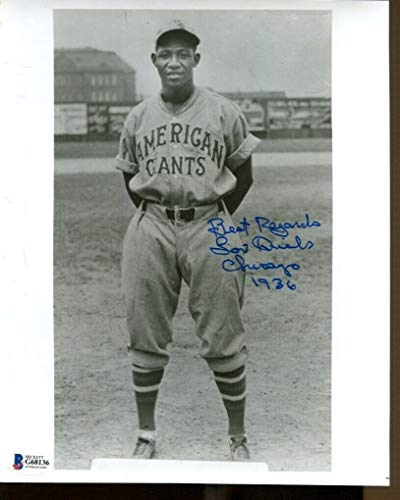Lou Dials Signed Photo 8x10 Autographed Chicago American Giants Beckett G68135