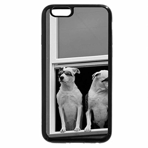 iPhone 6S Plus Case, iPhone 6 Plus Case (Black & White) - Two cool dogs