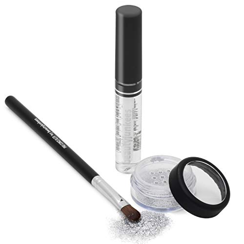 Razzle Dazzle Silver Cosmetic Grade Loose Glitter Makeup Kit with Brush and Glue, Extra Fine, Safe for Eyes, Face, Skin, All Over Body, Paraben Free, Gluten Free, Cruelty Free, Made in USA ()