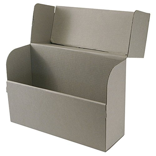 Archival Corrugated Box (Systematic Filing Products Corrugated Archival Document Case Gray (10 1/4