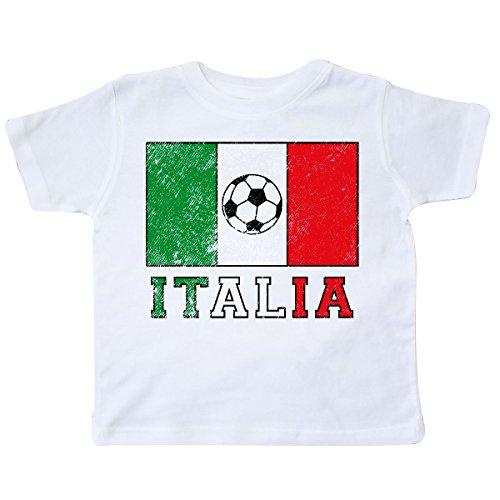 inktastic - Italian Soccer Toddler T-Shirt 3T White 2e0d2 (Flag Shirt Italian Golf)