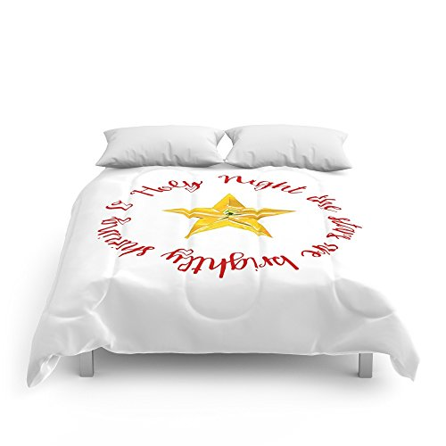 Society6 O Holy Night With Star Comforters Queen: 88'' x 88'' by Society6