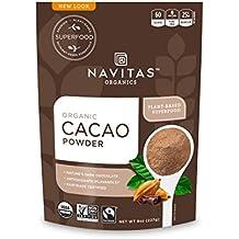 Navitas Organics Cacao Powder, 8 oz. Bag — Organic, Non-GMO, Fair Trade, Gluten-Free