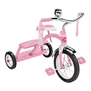 Classic Pink Dual Deck Tricycle, Active Play Set, Educational Toys, 2017 Christmas Toys