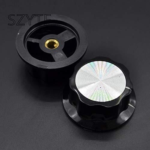 Isali Electronic - MF-A05 Potentiometer knob Bakelite knob Potentiometer knob Aluminum Cap bakelite 5PCS/1LOT hat (Bakelite Hat)