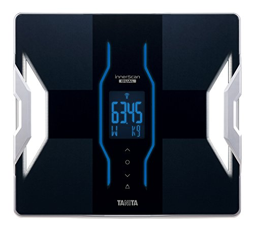 TANITA [Japan domestic manufacturers first BLE possible cooperation with the iPhone & popular iPhone app installed] and [weight 50g unit display] body composition meter inner scan dual black RD-901-BK]()