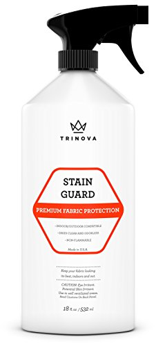 Fabric Protector Spray and Stain Guard for Upholstery Protection. Repellent Safe for Your Couch Sofa Furniture Shoes Carpet and More with non flammable spray. 18oz TriNova