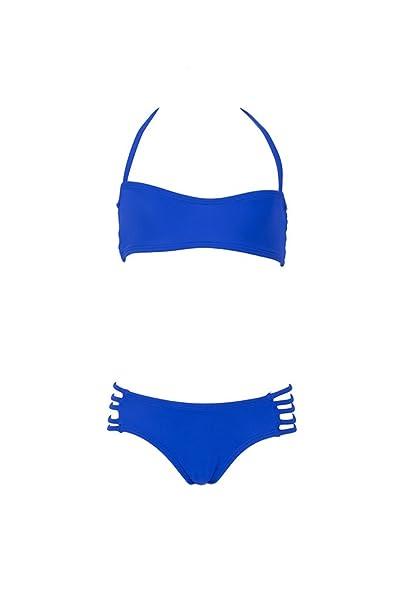 Mon Mini Teenie Bikini Azul Rey - Bikini Dos Piezas niña: Amazon.es: Ropa y accesorios