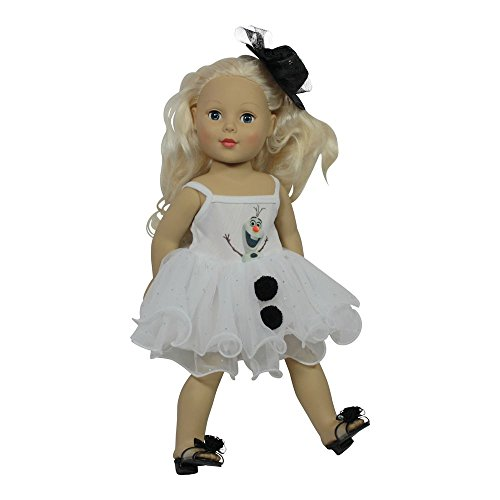 [Arianna Fits American Girl 18 inch Doll - My Favorite Snowman 2pcs Outfit - Dress - Fedora Hat - 18 inch Doll Costume - Boutique Quality She's Worth it! - Designed In USA - Fits 18 Inch] (Snowman Costume Hat)
