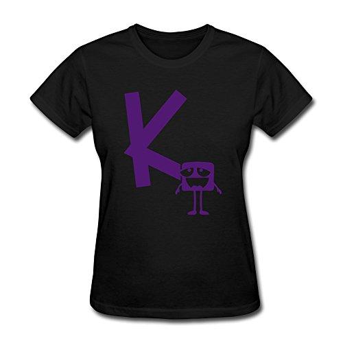 (Vansty Monster K Mono Round Neck Shirt For Lady Black Size)