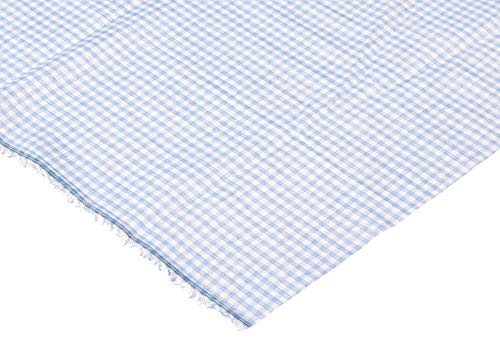 Blue Gingham Fabric (Richland Textiles Blue Width 1/8in Gingham Check Fabric by The)