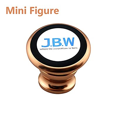 Car Mount, J.B.W. Premium Magnetic Cell Phone Holder Cell Phone Car Mount Smartphone Holder 360 Degree Rotatable Cradle Mount Kit - Rose Gold