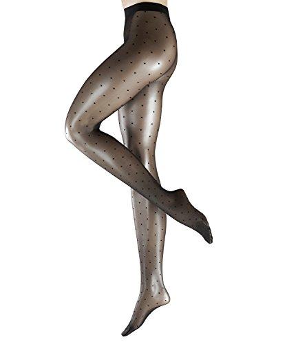 Falke Women's Dot Pantyhose, Black, L ()