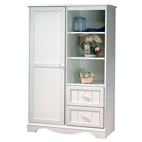 South Shore Savannah Armoire Pure White