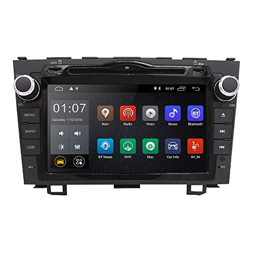 Android 8.1 OS Quad Core 8 inch 1024600 HD Touchscreen for Honda CRV CR-V 2006 2007 2008 2009 2010 2011 in Dash Car Stereo Kit DVD Player GPS Navigation Support Radio/DVR/OBD/TV/1080P ()
