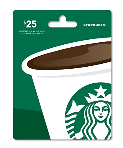 Starbucks Gift Card  25   Packaging May Vary
