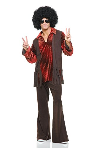 Charades Men's Haight Ashbury Hippie Costume, As Shown, (Costumes Haight Ashbury)