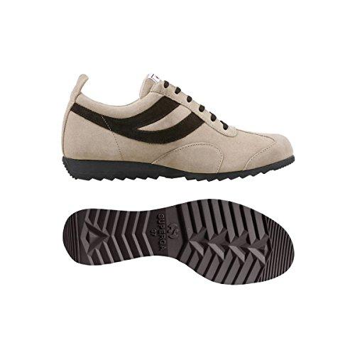 Superga - Zapatillas de running para hombre Beige-Dark Chocolate