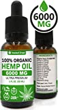 Hemp Oil Extract for Pain, Anxiety & Stress Relief – 6000MG / 30ML