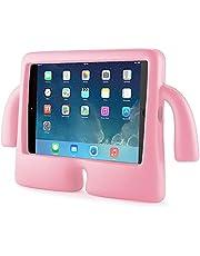 جراب مضاد للصدمات مع مقبض كرتوني للأطفال EVA مناسب لأجهزة Ipad 10.2 2019 7th / 2020 8th - وردي