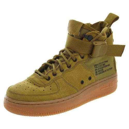 Nike Kids SF AF1 Mid Basketball Shoe (GS) (7 M US Big Kid, Desert Moss)