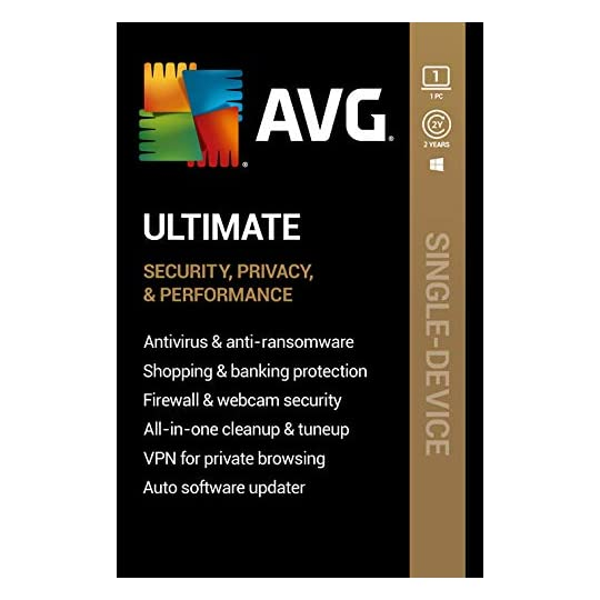 AVG Ultimate 2021 | Antivirus+Cleaner+VPN | 1 PC, 2 Years [Download]