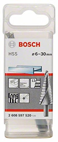 /Ø 6-37 mm Bosch Professional Stufenbohrer HSS mit 3-Fl/ächen-Schaft