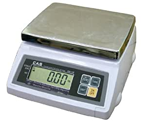 CAS SW-20W Water Protected Economy Scale, Lb/Oz/Kg/g Switchable, 20 x 0.01 lbs, Legal-for-Trade