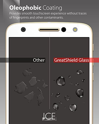 Moto Z Force Screen Protector, [Tempered Glass] GreatShield ICE [HD