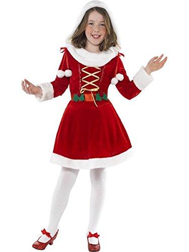 [Smiffys SM38196-L Girls Little Miss Santa Costume LARGE] (Miss Usa Costume)