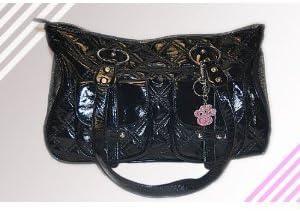 mpet Dog Cat Faux-Leather Handbag Pet Carrier Tote 16 L x 10.5 H x 7 W Black