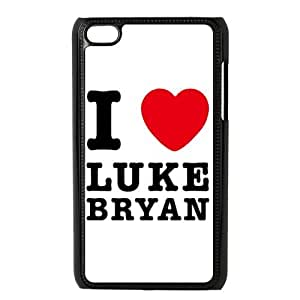 Danny Store Protective Hard PC Cover Case for iPod Touch 4, 4G (4th Generation), I Love Luke Bryan