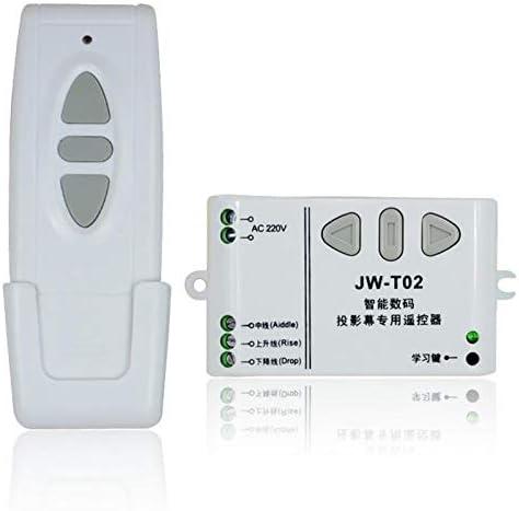Adanse Jw-T02 Control Remoto Inal/ámbrico 315 MHz Control Frontal para Pantallas de Proyectores El/éctricos Cortinas El/éctricas//Torre Puerta de Garaje