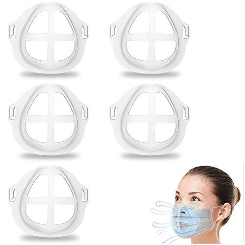 Mask Bracket for Inner Support Frame, 5Pcs 3D Bracket for Protect Facial Makeup, Face Mask Holder