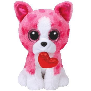 TY Valentines ROMEO Pink Dog Beanie Boos 6
