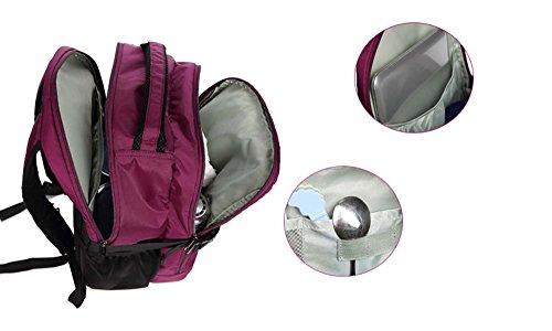 Bolso de la momia, bolso de hombro, morral, bolso de múltiples funciones de gran capacidad del bebé, va bolso de la madre, para ser paquete producido ( Color : Rojo ) Negro