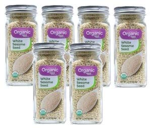 Great Value Organic White Sesame Seeds, 2.2 oz, 2 Count (Pack of 3) by Great Value