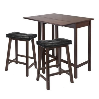 3pc-Lynnwood-Drop-Leaf-Kitchen-Table-with-2-Cushion-Saddle-Seat-Stools